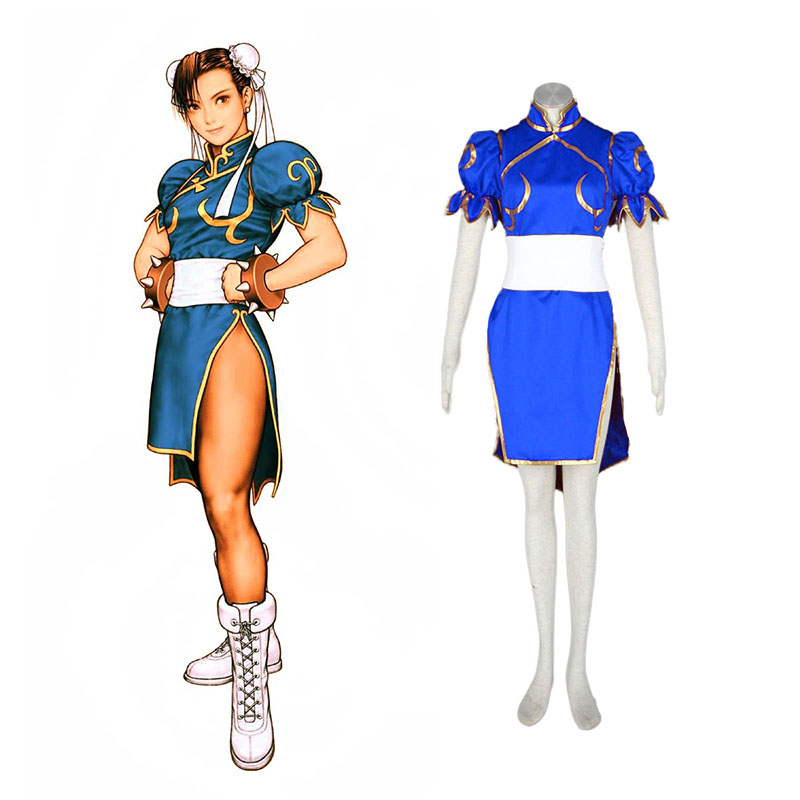 Street Fighter Chun-Li 1 Blue Cosplay Costumes Canada
