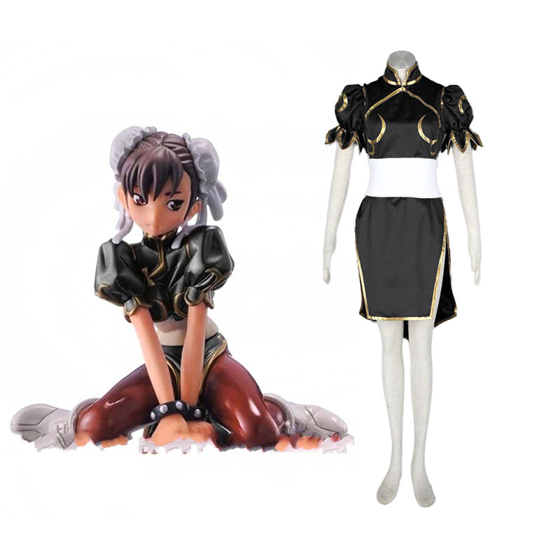 Street Fighter Chun-Li 2 Black Cosplay Costumes Canada