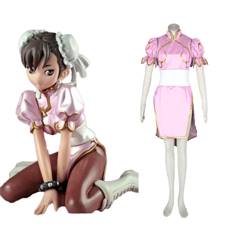Street Fighter Chun- Li 3 Pink Cosplay Costumes Canada