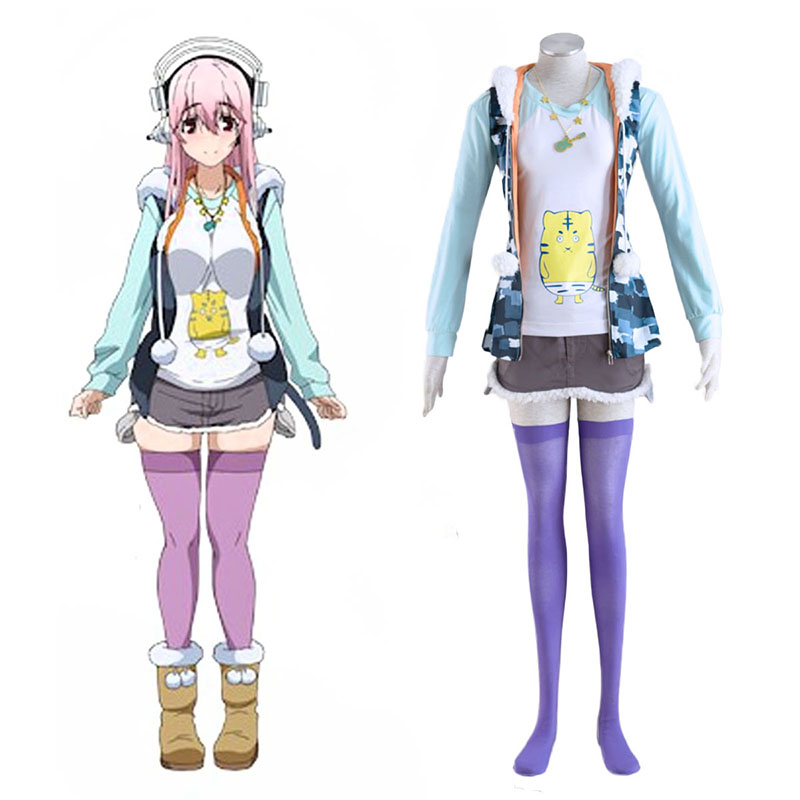 Soni-Ani:Super Sonico the Animation Super Sonico 1 Cosplay Costumes Canada