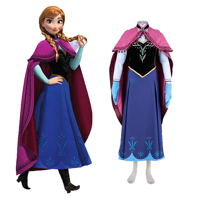 Frozen Anna 1 Cosplay Costumes Canada