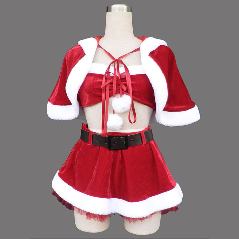 Red Christmas Lady Dress 5 Cosplay Costumes Canada