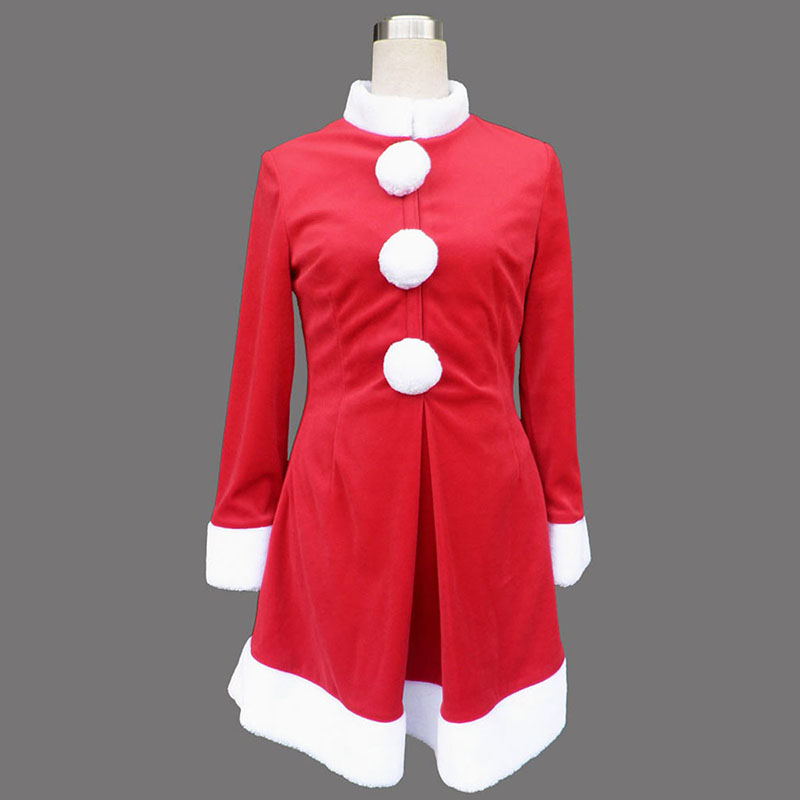 Red Christmas Lady Dress 6 Cosplay Costumes Canada