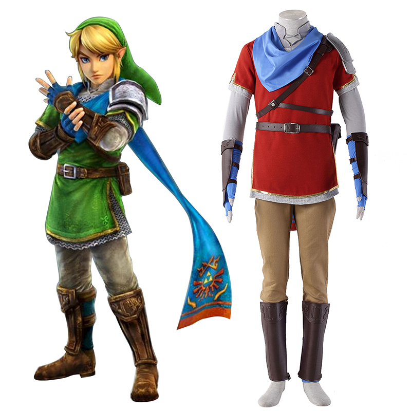 The Legend of Zelda Hyrule-Warriors Link 6 Red Cosplay Costumes Canada
