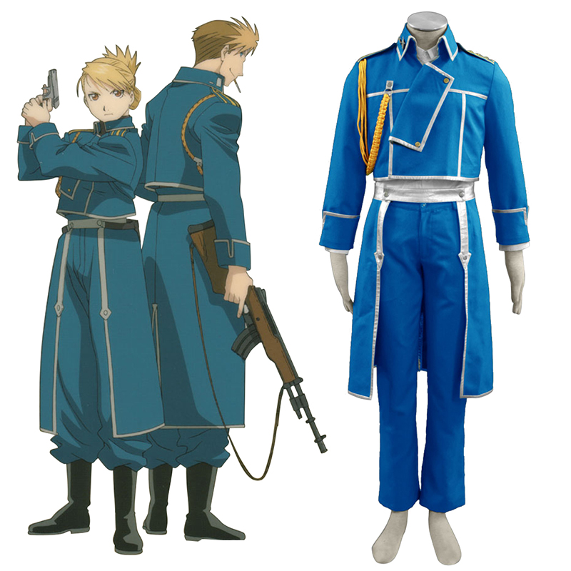 Fullmetal Alchemist Male Military Uniform Cosplay Costumes Canada