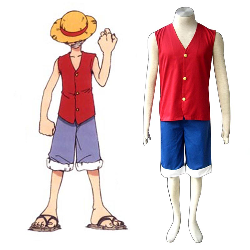 One Piece Monkey D. Luffy 1 Red Cosplay Costumes Canada
