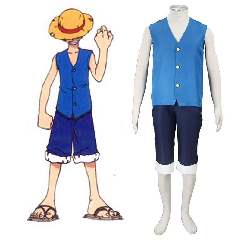 One Piece Monkey D. Luffy 2 Blue Cosplay Costumes Canada