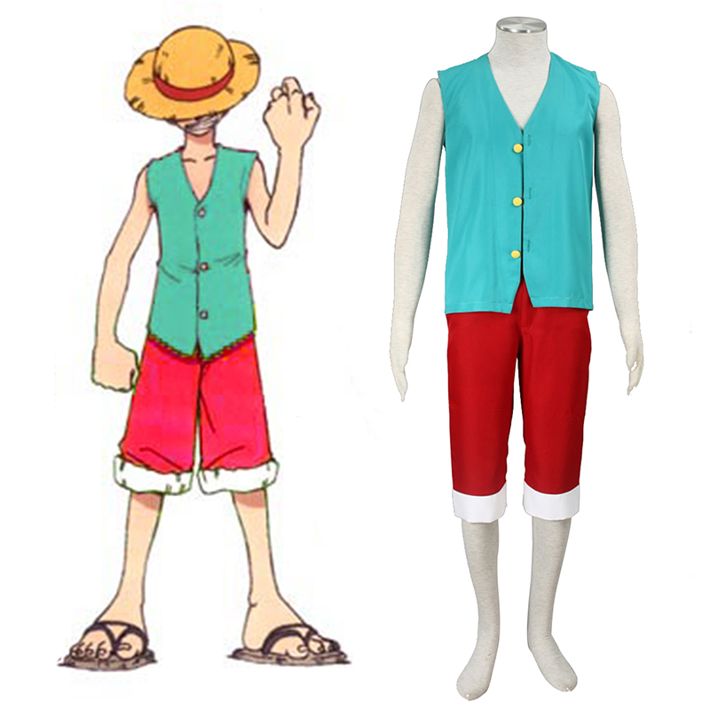 One Piece Monkey D. Luffy 3 Green Cosplay Costumes Canada