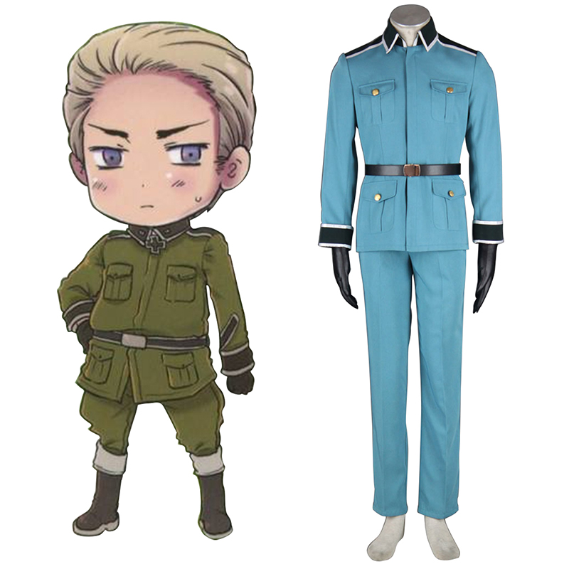 Axis Powers Hetalia Germany 1 Military Uniform Cosplay Costumes Canada