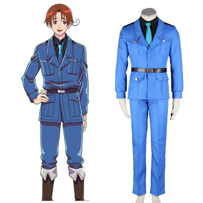 Axis Powers Hetalia APH North Italy Feliciano Vargas 3 Cosplay Costumes Canada