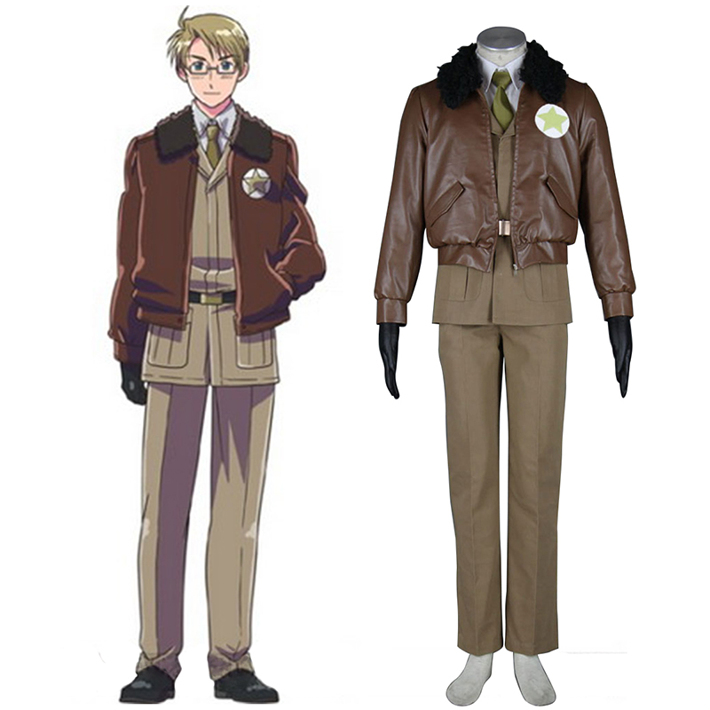 Axis Powers Hetalia APH America Alfred F Jones 1 Cosplay Costumes Canada
