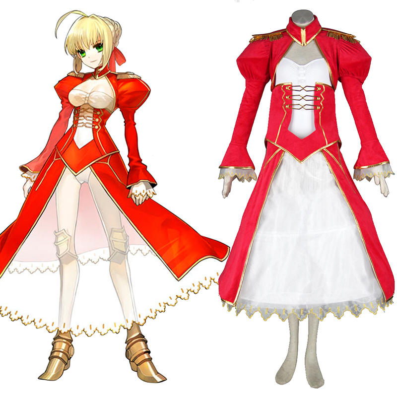 The Holy Grail War Saber 2 Red Cosplay Costumes Canada