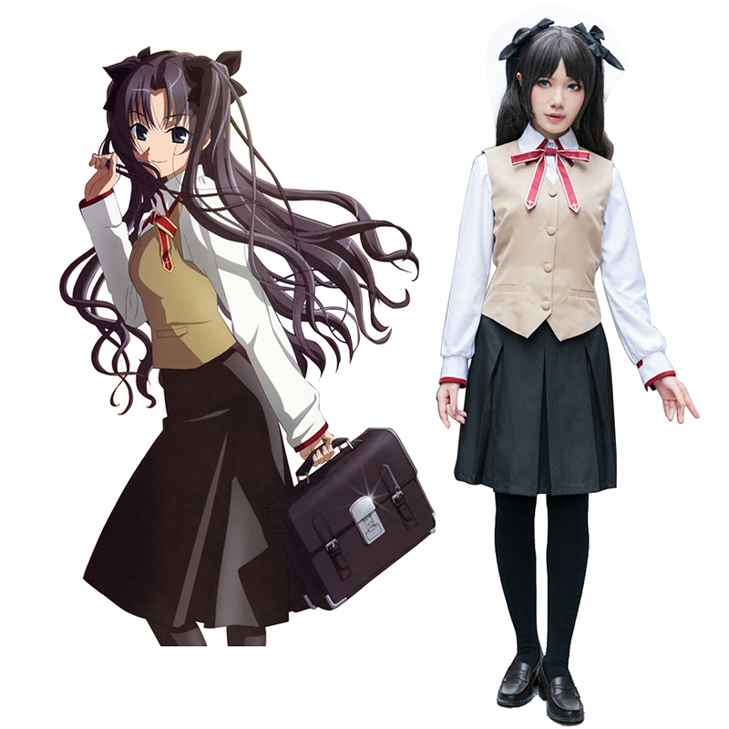 The Holy Grail War Tohsaka Rin 3 School Uniform Cosplay Costumes Canada