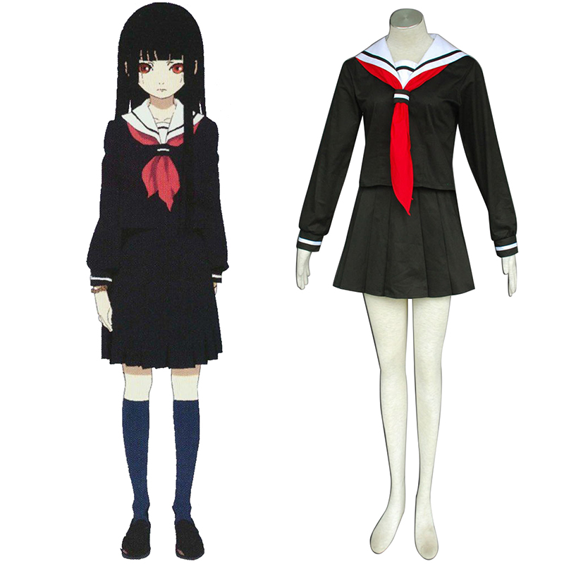 Hell Girl Enma Ai 2 Sailor Cosplay Costumes Canada