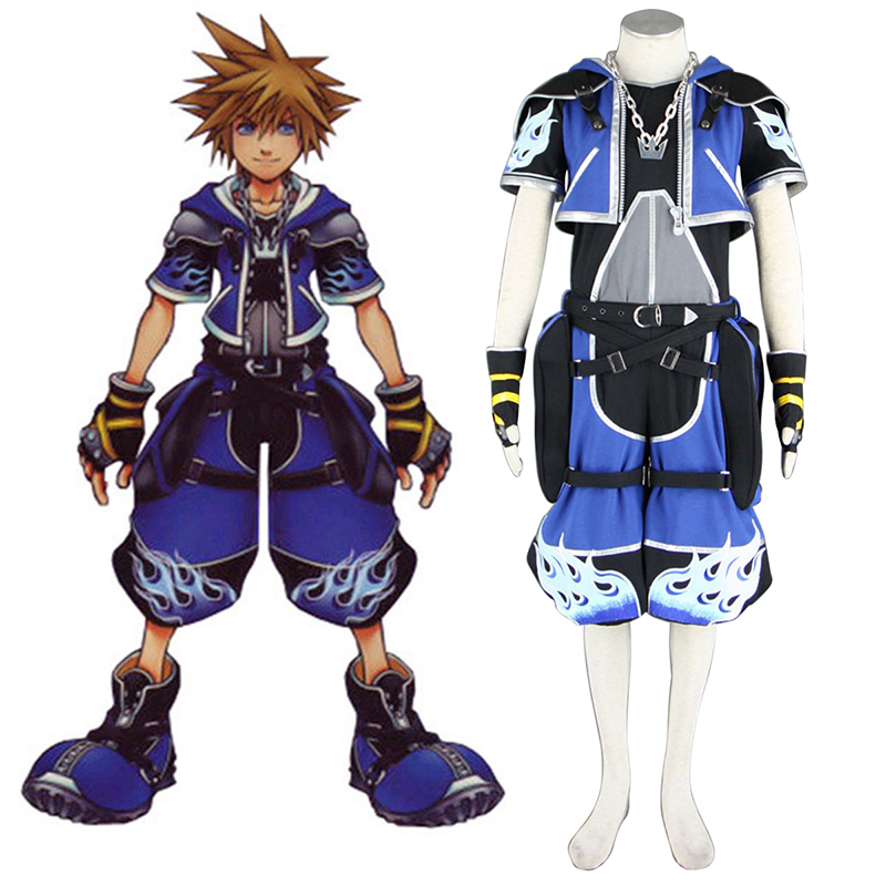 Kingdom Hearts Sora 2 Blue Cosplay Costumes Canada