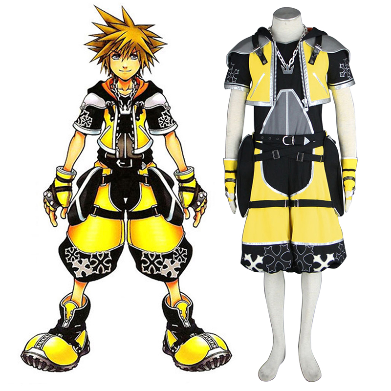 Kingdom Hearts Sora 3 Yellow Cosplay Costumes Canada
