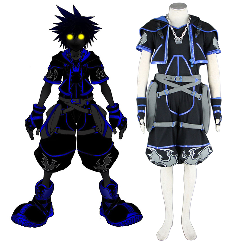 Kingdom Hearts Sora 4 Black Cosplay Costumes Canada