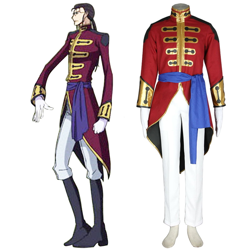 Code Geass Gilbert G.P. Guilford Cosplay Costumes Canada