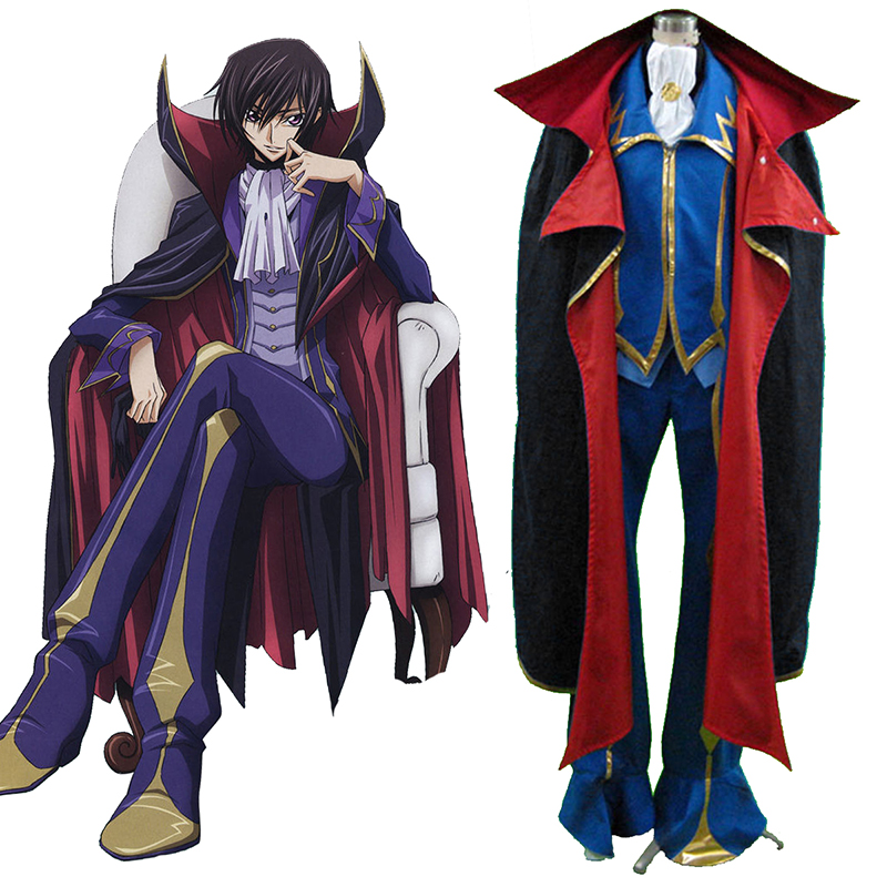Code Geass Lelouch Lamperouge ZERO 2 Cosplay Costumes Canada