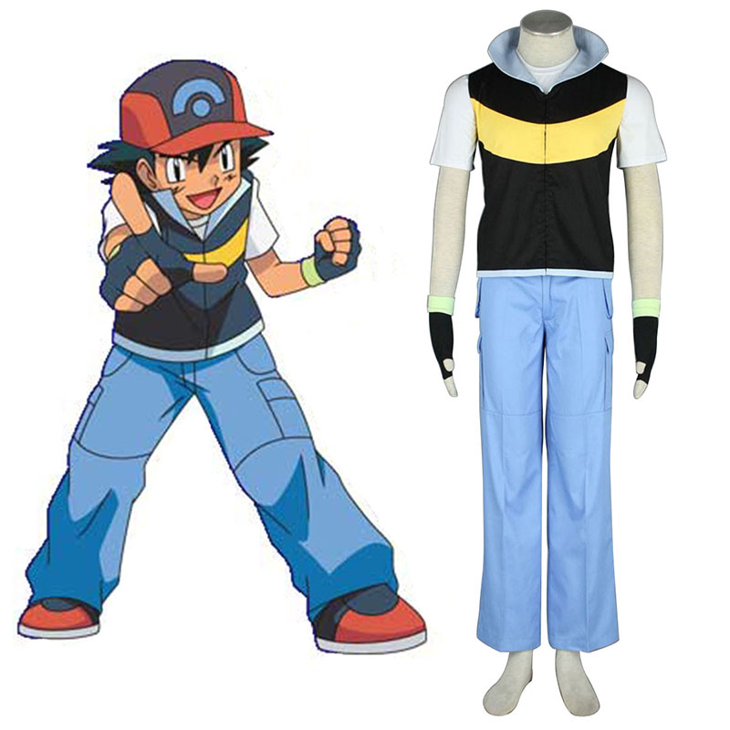 Pokémon Ash Ketchum 1 Cosplay Costumes Canada