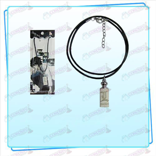 Death Note AccessoriesL flag weights black rope necklace