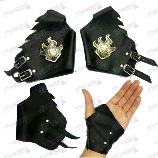 Bleach Accessories logo leather gloves copper