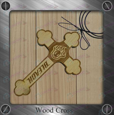 Bleach Accessories-empty sign board wooden cross necklace
