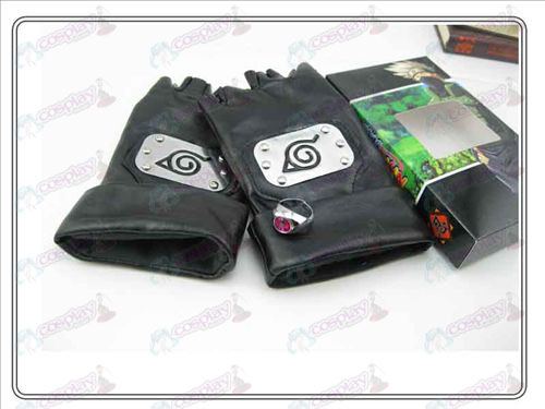 Naruto kakashi gloves + ring (three-piece)
