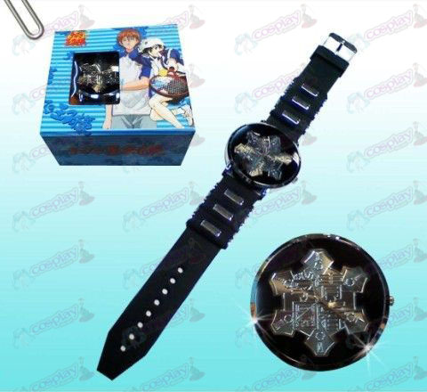 The Prince of Tennis Accessories Seigaku logo black watches