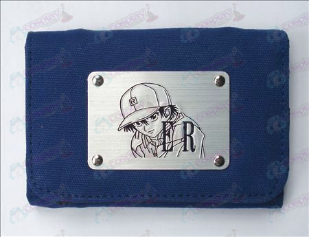 The Prince of Tennis Accessories White Canvas Wallet (Blue)