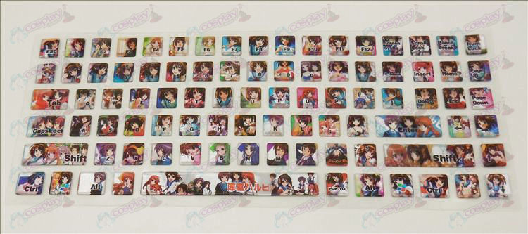 PVC keyboard stickers (Suzumiya)