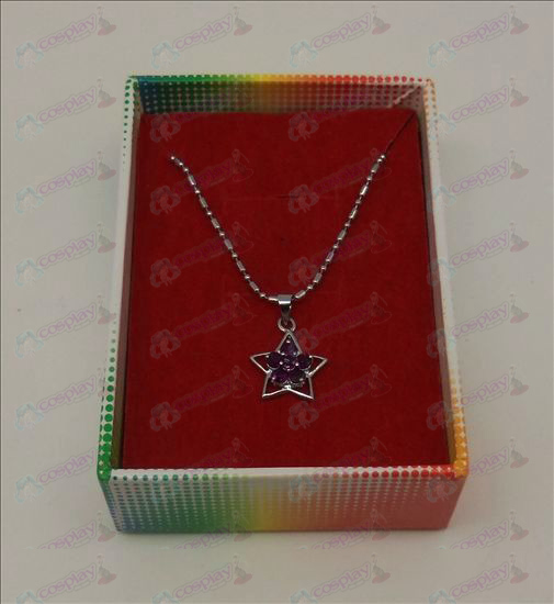 Lucky Star Accessories Diamond Necklace (Purple)