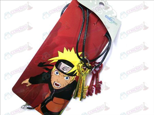 Naruto key couple necklace