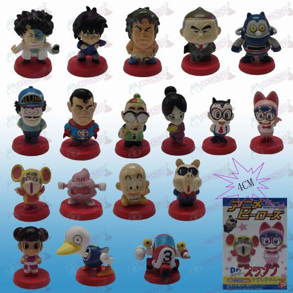 18 models of Dr. Slump Accessories Boxed