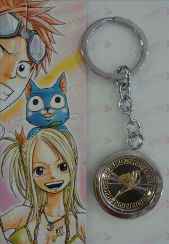 Black Steel Keychain Fairy Tail Accessories gold