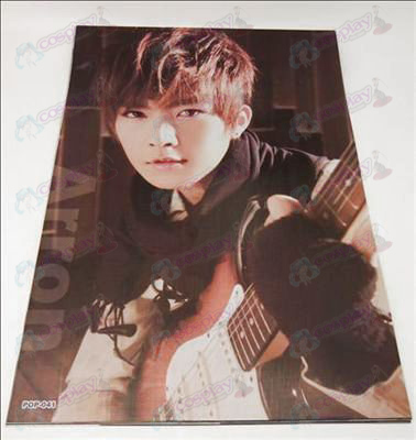 42 * 29cm Aaron embossed posters (8 / set)