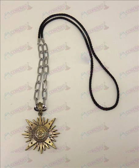 DD.Gray-man Accessories logo punk long necklace (bronze)