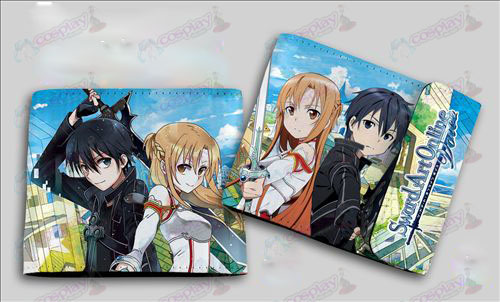 QB-6112Sword Art Online Accessories colored snaps wallet