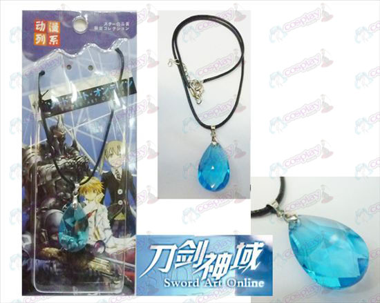 Sword Art Online Accessories Yui blue crystal heart necklace