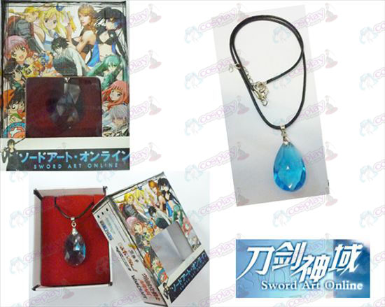 Sword Art Online Accessories Yui boxed blue crystal heart necklace