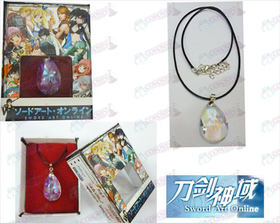 Sword Art Online Accessories Yui White Crystal Heart Necklace Box