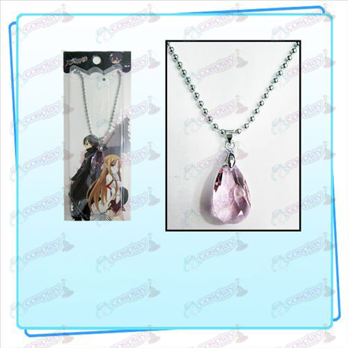 Sword Art Online Accessories Yui Heart Crystal Necklace (Transparent Pink)
