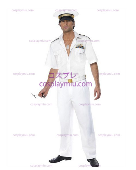 Mens Top Gun Captain Airforce Fancy Dress Costume