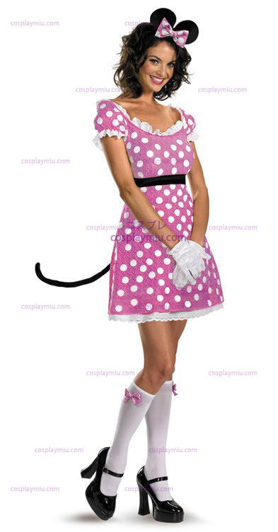Disney Clubhouse Pink Minnie Mouse Adult Costume