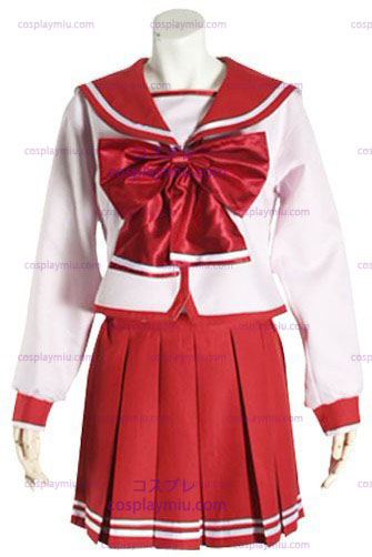 Red Long Sleeves Halloween Cosplay School Uniform
