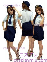 Cute Lady Police Costume Uniform