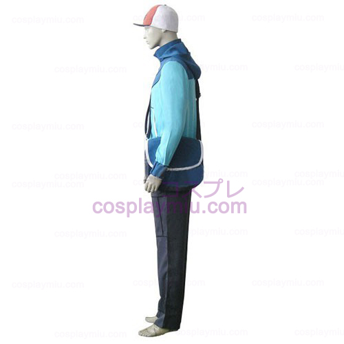 Pokemon Trainer Black Touya Men's Cosplay Costume