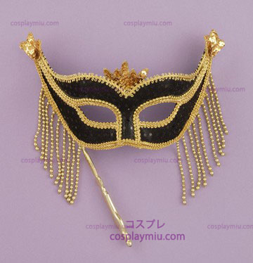 Venetian Mask Stick Black