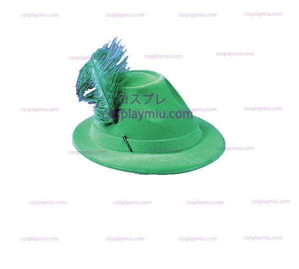 Green Flocked Alpine Hat