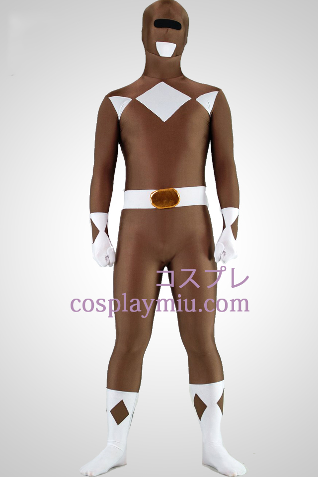 Mighty zentaiin Coffee Ranger Lycra Spandex Superhero Zentai Suit